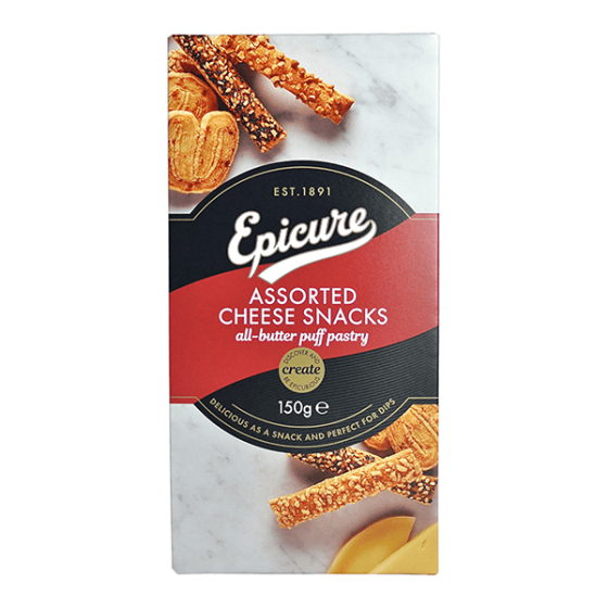 ASSORTED CHEESE SNACKS 14X150G